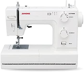 中古 JANOME ジャノメ 在庫一掃売り切りセール レザークラフト対応 パワフル 電動ミシン レザー押さえ LC7500 LC-7500 レザー針 完全送料無料 標準装備