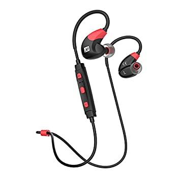 中古 着後レビューで 送料無料 Mee Audio レッド 期間限定特別価格 EP-X7-RDBK-MEE x7ワイヤレススポーツステレオBluetoothインイヤヘッドフォン