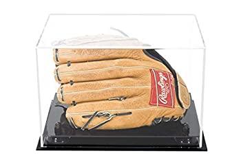 中古 輸入品 未使用 Clear with Black Risers - Deluxe Acrylic Protection UV Full Glove Baseball Display Size Collectible 即納 Case 新作からSALEアイテム等お得な商品 満載