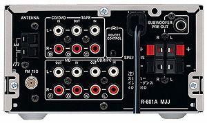 中古 ONKYO 上等 INTEC155 FM 最新アイテム AMチューナー シルバー S 24W+24W R-801A