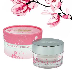 Cherry C cream 40 g [Sakura Sakura Japanese cherry trees in Japan from flowers extract vitamin A vitamin C vitamin E sensitive skin-free fragrance free skin skin effects