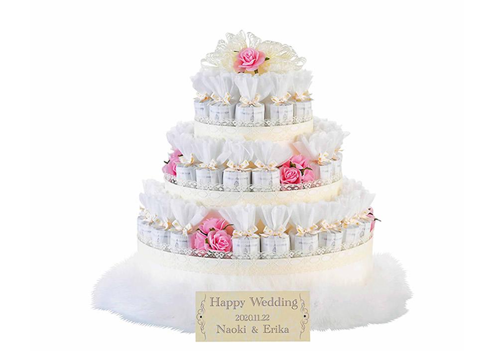 【プチギフト】レースデコレーション ピンク43個セット ハートクッキー(結婚式 披露宴 ブライダル パーティー 二次会 ギフト プレゼント お返し)