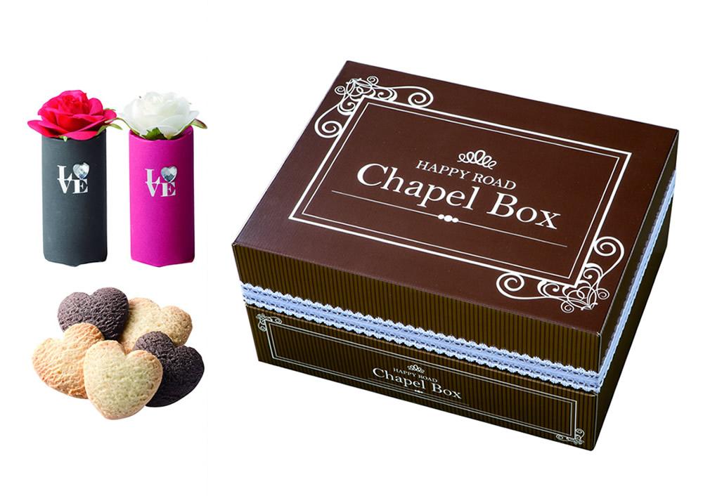 送料込!【プチギフト】チャペルボックス 48個セット華やかなバラを飾って♪