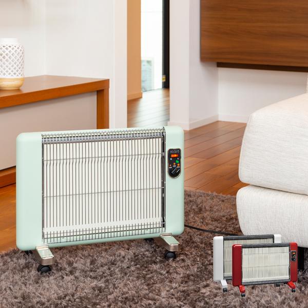サンラメラ ヌーボー 電気ストーブ 遠赤外線セラミックパネルヒーター | 2018暖房 日本製 5年保証 送料無料 マイカヒーター