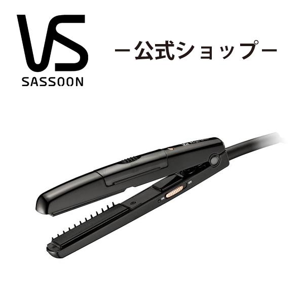 VS ( ヴィダルサスーン )スチームストレートアイロン VSS3002KJ ストレートアイロン | ヘアアイロン ヘアーアイロン アイロン ヘア ミニ ブラック アイロン 美容家電 美容家電 アイロン ビダルサスーン vs プレート最高温度約215℃の高温設定