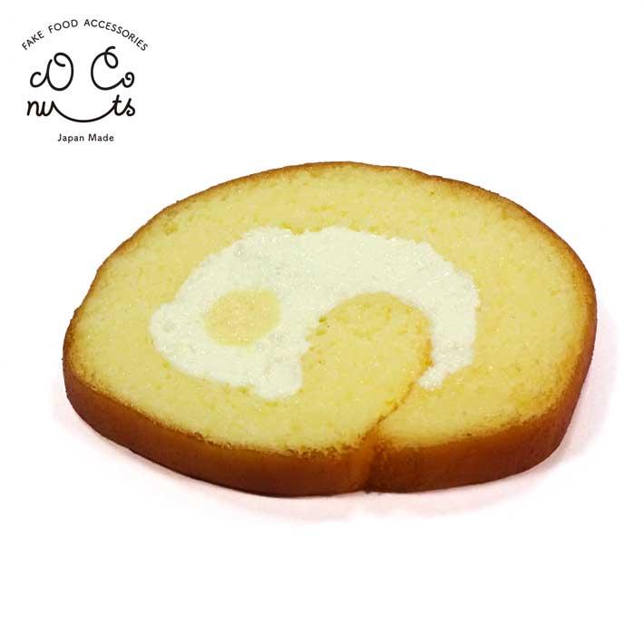食品サンプル コースター プレゼント セール商品 贈り物 おみやげ に最適 メール便 本物そっくり ロールケーキ 食べちゃいそうなロールケーキのコースター おやつ 購入 お土産 手作り かわいい ケーキ みやげ スイーツ