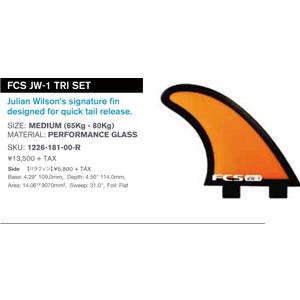 FCS JW-1 Tri Fin Set