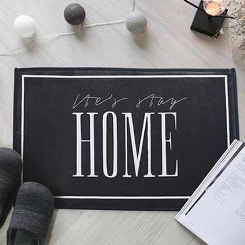【マット(40x60cm)HOME】モノトーンで洗練されたデザインのロゴ入りマット。 北欧 インテリア マット フロアマット バスマット キッチンマット