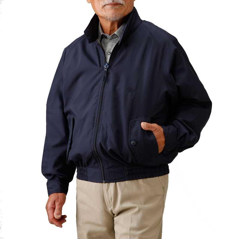 トロイブロス スイング トップ ブルゾン(敬老の日 シニア向け 服 衣料 介護用品 老人 高齢者 お年寄り 大きいサイズ シニア 60代 70代 80代 男性 紳士 メンズ 高齢者服 ギフト 刺しゅう)(トップス) 取寄せ