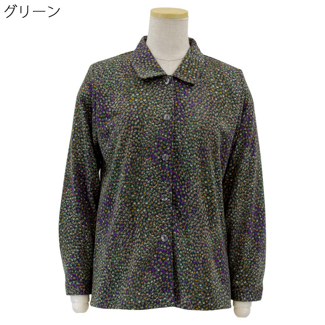 婦人 シニア向け■ストレッチ 毛混 ニット 後ろ身頃 ゆったり ブラウス 日本製