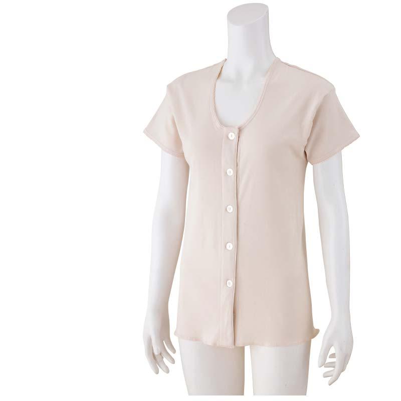 婦人 3分袖 2枚組 前開き 大き目ボタン 介護肌着 シャツシニア ファッション 母の日 60代 70代 80代 シニア向け 服 衣料 老人 高齢者 シニアファッション 女性 婦人 服 ズボン 通販