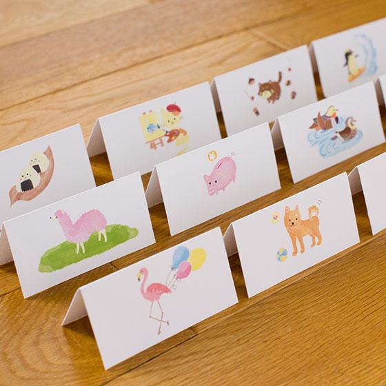 「選び取りカード1歳 【動物のイラストの選び取りカード】」(COCOSAB)