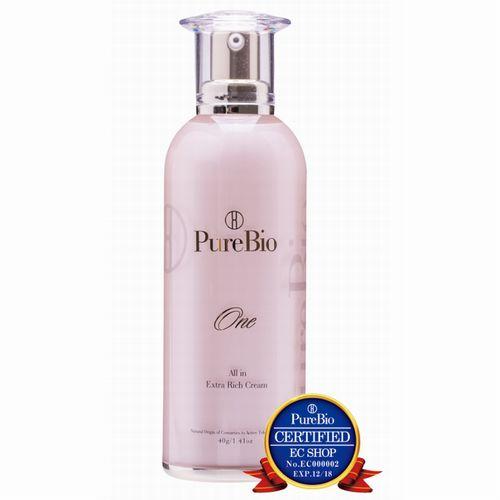 PureBioOne ピュールビオワン オールインワンクリーム〔ワン〕 40gメーカー認定マーク <基礎化粧品><スキンケア><ヒト幹細胞培養液><うるおい><乾燥>