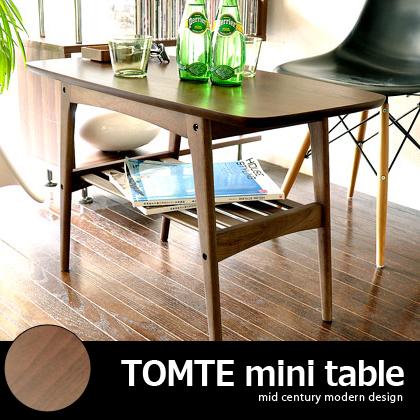 サイド テーブル ソファサイドテーブル ベッドサイドテーブル サイドテーブル 木製 北欧 かわいい おしゃれ ソファテーブル TOMTE mini table〔トムテ ミニテーブル〕 ウォルナット(リビング ダイニング 寝具 カフェ ベット ソファー ベッドテーブル)