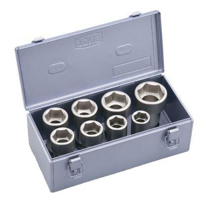 TONE(トネ):インパクト用ロングソケットセット(メタルトレーケース仕様)差込角19.0mm 8点 NV608L