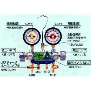 デンゲン:マニホールドゲージ3バルブ方式[カーエアコン修理機器] CP-MG313N-DX