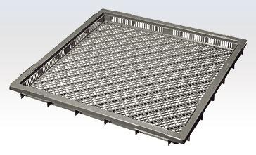 積水テクノ:Lタイプコンテナ[水産用コンテナ] 10個入(グレー) L-630