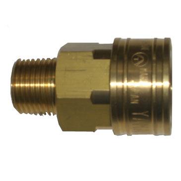 ヤマトエンジニアリング:中圧 汎用型[オネジソケット] STY型 真鍮 STY16-SM-BSBM