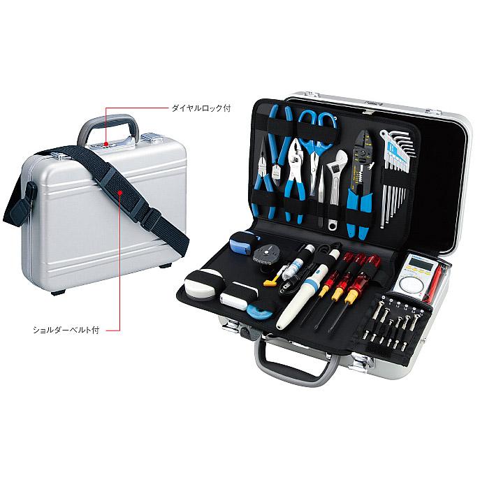 4962772773819 HOZAN(ホーザン):アタッシェタイプの工具セット 77点 S-81