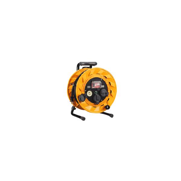 【代引不可】【受注生産品】ハタヤリミテッド:BR型コードリール(漏電遮断器付) 30m BR-301