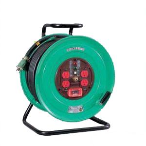 日動工業:標準型ドラム(屋内型) アース付 50m 過負荷漏電保護専用 NF-EK54