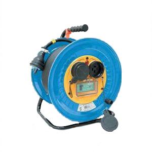 日動工業:防雨・防塵型三相200V動力用電工ドラム アース付 漏電保護専用 20m DNW-EB320F-20A