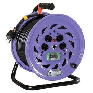 日動工業:単相200V一般型ドラム アース付 漏電保護専用 30m NF-EB230-15A
