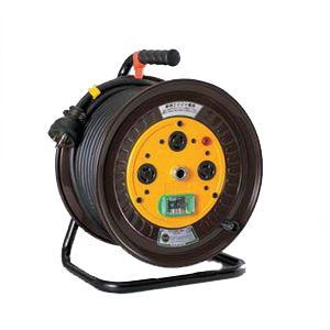 日動工業:単相200Vロック(引掛)式ドラム アース付 過負荷漏電保護専用 30m ND-EK230L-20A