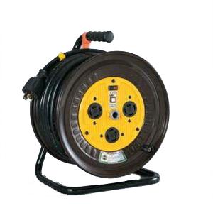 4937305018354 日動工業:三相200Vロック(引掛)式ドラム アース有 20m ND-E320L-20A 電設 コンセント 物流 工場 現場