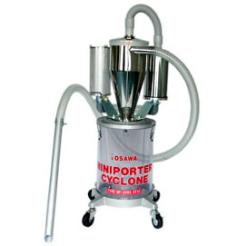 【代引不可】オオサワカンパニー:ミニポーターサイクロン 25l透明塩ビタンク付 MP-38WACF12