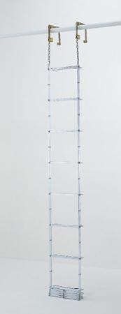 【代引不可】PiCa(ピカ・コーポレイション):避難用鋼製折りたたみはしご ES-72