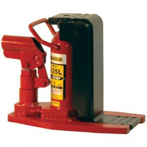 イーグル(今野製作所):ポータブル型油圧爪つきジャッキ(安全弁付・レバー回転)[爪ロングタイプ] 2.5トン G-25L