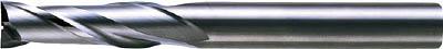 三菱 2枚刃超硬エンドミル(セミロング刃長) ノンコート 25mm(1本) 6591329