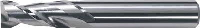 三菱 2枚刃超硬エンドミル(ミドル刃長) アルミ用 ノンコート 18mm(1本) 6591639