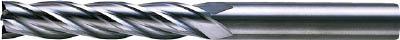 三菱 4枚刃超硬センタカットエンドミル(ロング刃長) ノンコート 6.5mm(1本) 6593437
