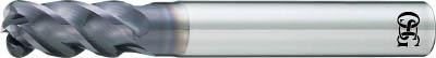 代引き手数料無料 OSG UVX‐TI‐(1本) 4刃 7637501:イチネンネット チタン合金加工用不等リードエンドミル FXコート-DIY・工具