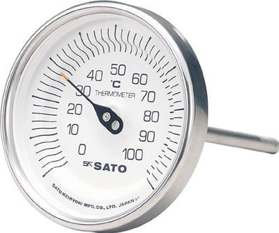 """""""バイメタル温度計""""(裏出し型) 4974425170104 佐藤 バイメタル温度計BM-T型(1個) BMT90S1 1689169"""