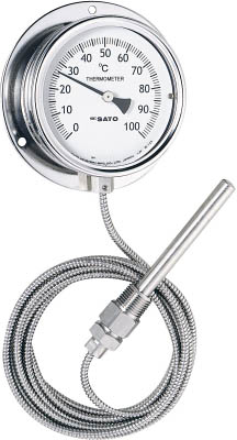 隔測指示温度計(液体膨張式) 4974425249602 佐藤 隔測指示温度計(1個) LB100S5 1689339