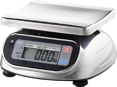 A&D 防塵・防水デジタルはかりウォーターボーイ0.01kg/20kg(1台) SL20KWP 2943441