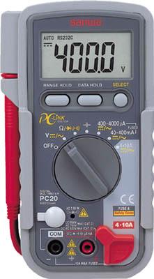 SANWA デジタルマルチメータ パソコン接続型(1個) PC20 3083667