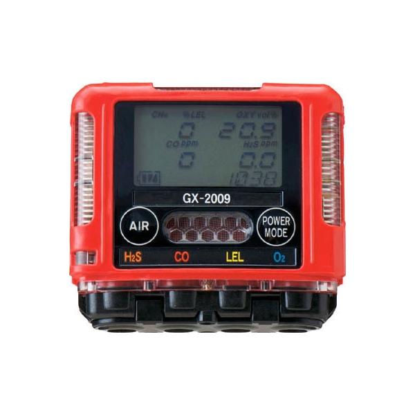 理研 ポケッタブルマルチガスモニター(1個) GX2009A 3538524 測定機器 事故防止 工場 工事 超小型 コンパクト