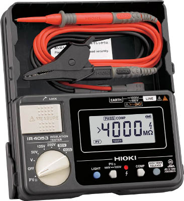 HIOKI 太陽光発電システム用絶縁抵抗計IR4053-10(1台) IR405310 7586612