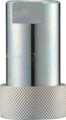 ナック クイックカップリング HP型 特殊鋼製 高圧タイプ オネジ取付用(1個) CHP12S 3643964