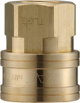 ナック クイックカップリング TL型 真鍮製 オネジ取付用(1個) CTL16SF2 3645631