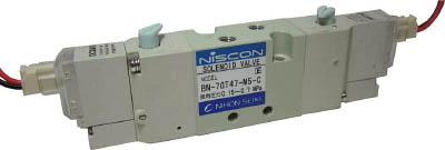 日本精器 4方向電磁弁M5ダブルAC100V7GT(1台) BN7GT47M5CE100 3954439