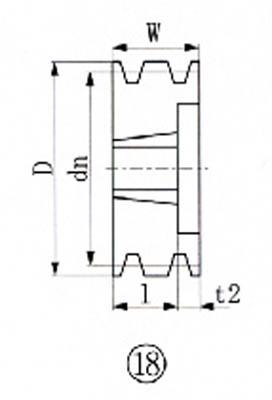 EVN ブッシングプーリー SPB 206mm 溝数3(1個) SPB2063 3806359