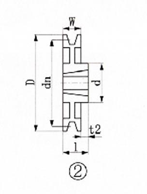 EVN ブッシングプーリー SPB 280mm 溝数1(1個) SPB2801 3806545