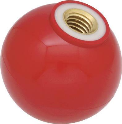 TRUSCO 樹脂製握り玉 金具付赤 40XM12mm(1箱) TPC4012R 3291880