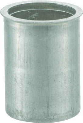TRUSCO クリンプナット薄頭アルミ 板厚4.0 M6X1 1000入(1箱) TBNF6M40AC 4097173