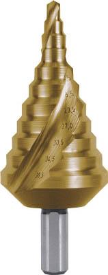 RUKO 2枚刃スパイラルステップドリル 38.5mm チタン(1本) 101091T 4863674